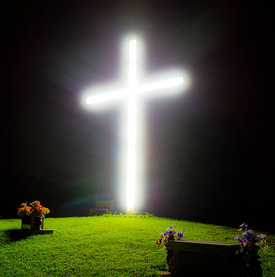 Photograph - Glowing Cross by Jonny D
