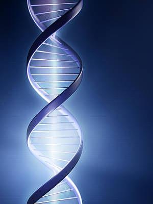 Helix Photograph - Dna Technology by Johan Swanepoel