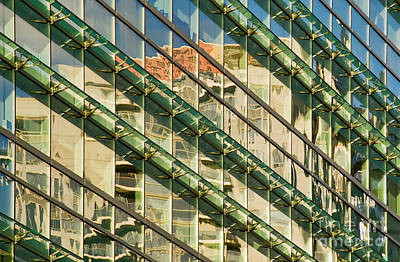 Photograph - Glowing Downtown Reflections by Gerda Grice