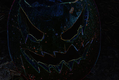 Photograph - Glowing Edge Pumpkin by Richard Bryce and Family