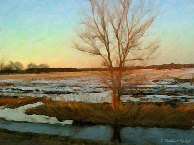 Painting - Glowing Field by Melody McBride
