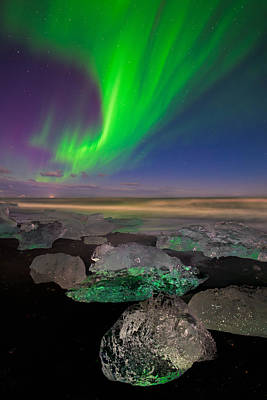 Glowing Gems Of Iceland Art Print by Mike Berenson