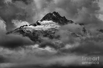 Photograph - Glowing Glaciers In The Tantalus Range by Adam Jewell