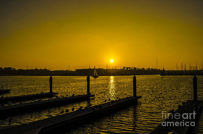 Photograph - Glowing Golden California Sunset by Deborah Smolinske