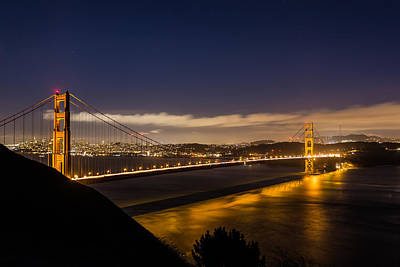 Photograph - Glowing Golden Gate by Mike Lee