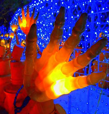 Photograph - Glowing Hand by Randall Weidner