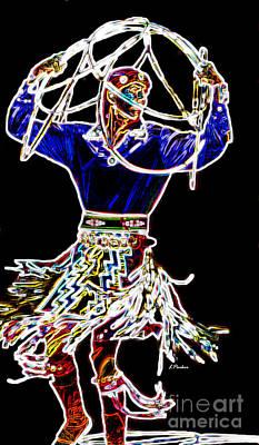 Glowing Hoops Print by Linda  Parker
