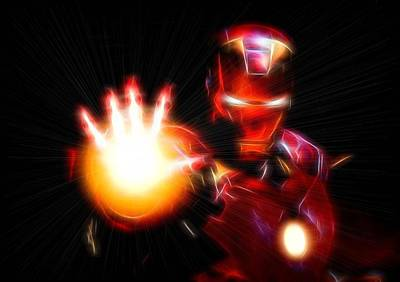 Fury Digital Art - Glowing Iron Man by Dan Sproul