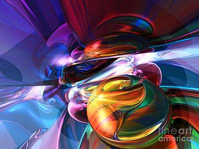 Vivid Digital Art - Glowing Life Abstract by Alexander Butler