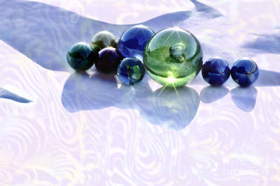 Glowing Marbles Art Print by Cynthia Lagoudakis