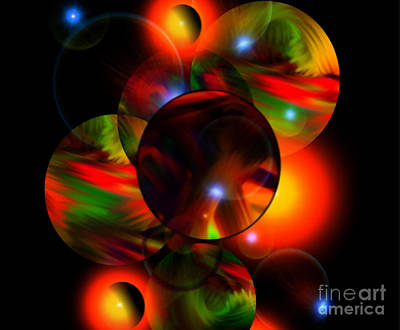 Glowing Marbles Art Print