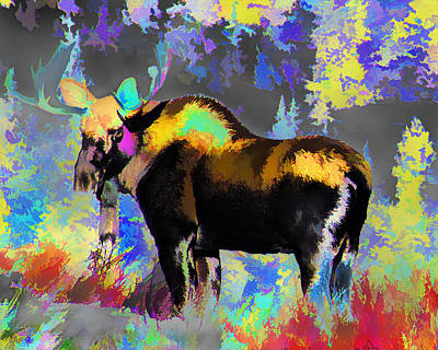 Photograph - Electric Moose by J Michael Nettik