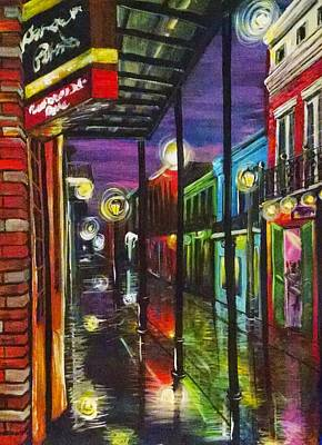 New Orleans Painting - New Orleans - Glowing Night by Gretchen  Smith