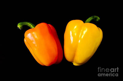 Photograph - Glowing Peppers by Anthony Sacco