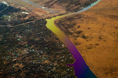 Photograph - Glowing River. Rainbow Earth by Jenny Rainbow