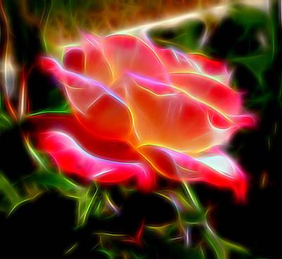 Mixed Media - Glowing Rose by Pamela Walton