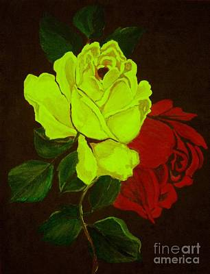 Painting - Glowing Roses by Saundra Myles