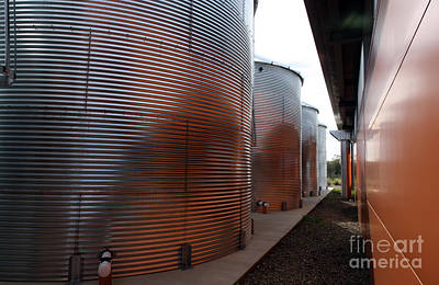 Uc Davis Photograph - Glowing Silos by Juan Romagosa
