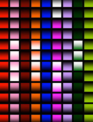 Art Print featuring the digital art Glowing Squares  by Gayle Price Thomas