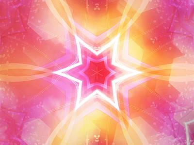 Glowing Star Art Print by Ann Croon