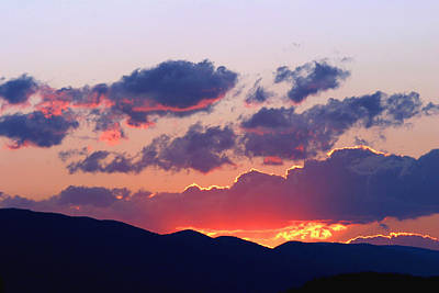 Photograph - Glowing Sunset by Gene Walls