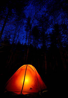 Photograph - Glowing Tent by Cale Best