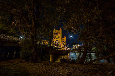 Old Sacramento Photograph - Glowing Towers by Everet Regal
