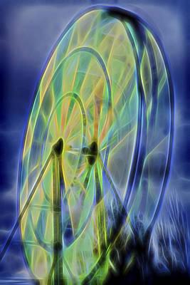 Glowing Wheel Art Print
