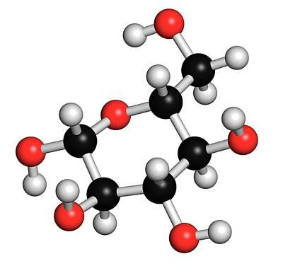 Glucose Grape Sugar Molecule Art Print by Molekuul