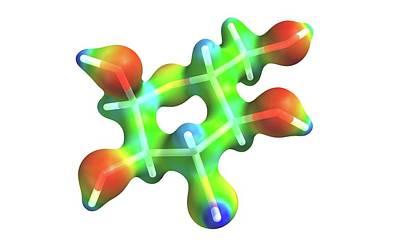 Glucose Molecule Art Print by Alfred Pasieka