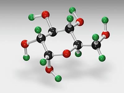 Atom Photograph - Glucose Molecule by Carlos Clarivan