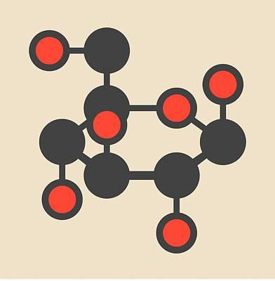 Glucose Molecule Art Print by Molekuul