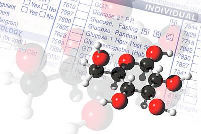 Molecule Photograph - Glucose Molecules by Carol & Mike Werner