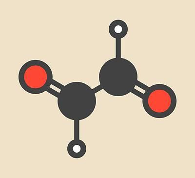 Glyoxal Dialdehyde Molecule Art Print by Molekuul