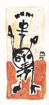 Rock Drawings Painting - Glyphs No. 5  by Mark M  Mellon