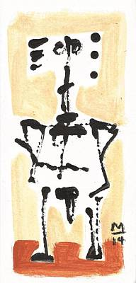 Rock Drawings Painting - Glyphs No. 7  by Mark M  Mellon
