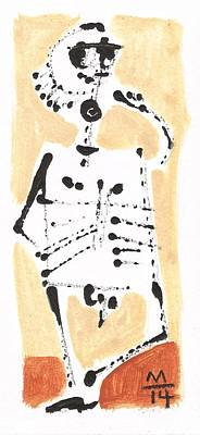 Cave Art Painting - Glyphs No. 6 by Mark M  Mellon
