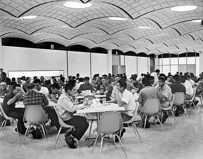 Gm Employee Cafeteria Art Print by Underwood Archives