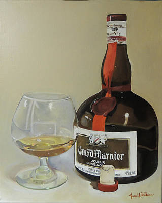 Gm Painting - Grand Marnier by Jared Wilkins