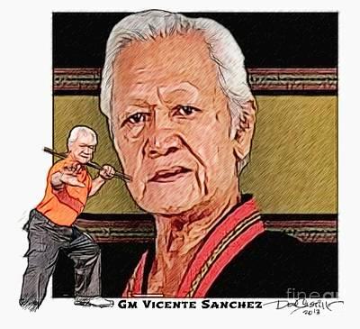 Gm Vicente Sanchez Art Print by Donald Castillo
