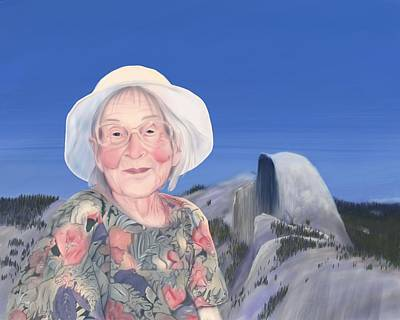 Yosemite National Park Digital Art - Gma At Halfdome by Phil Vance