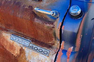 Photograph - Gmc 4000 V6 Pickup Truck Side Emblem - Door Handle by Jill Reger