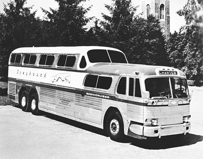 Greyhound Photograph - Gm's Latest Bus Line by Underwood Archives