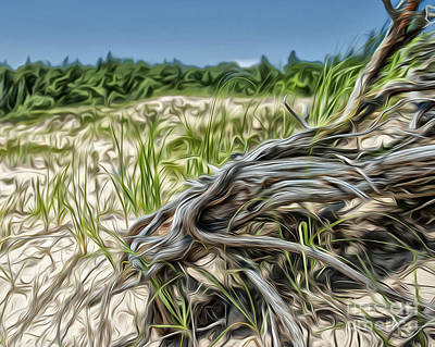 Tree Roots Digital Art - Gnarly Roots by Brian Mollenkopf