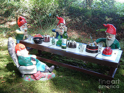 Photograph - Gnome Cooking by Richard Brookes