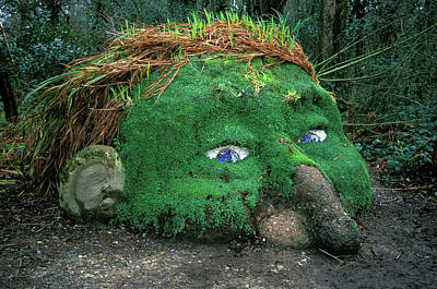 Heligan Photograph - Gnome Who Guards Earths Underground by Vintage Images
