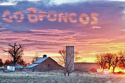 Photograph - Go Broncos Colorado Country by James BO  Insogna
