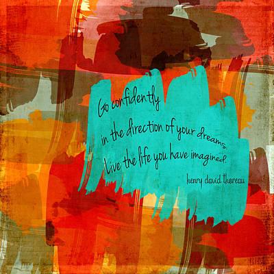 Colorful Art Digital Art - Go Confidently by Bonnie Bruno