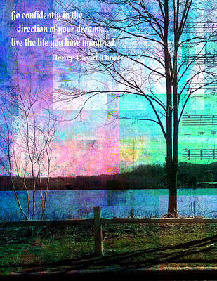 Lakeview Painting - Go Confidently by Robin Mead