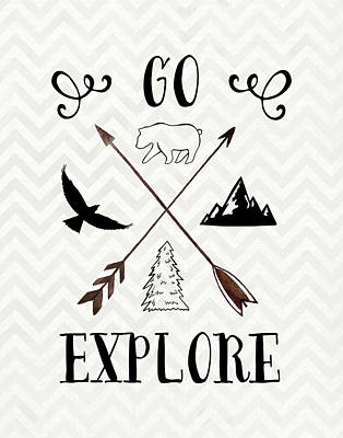 Go Explore Art Print by Tara Moss